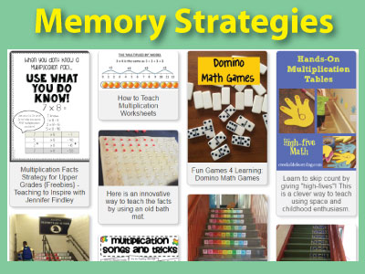 More memory strategies and resources to teach the multiplication facts.