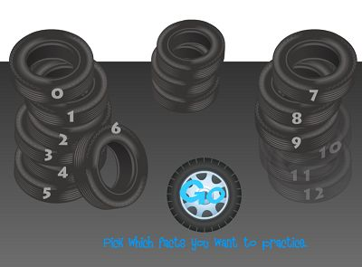 Choose a Fact for Tony's Tires Multiplication | Multiplication.com