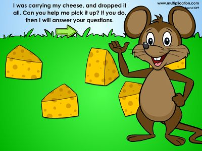 Help Momo Mouse Pick up his Cheese in Winston Detective Agency | Multiplication.com