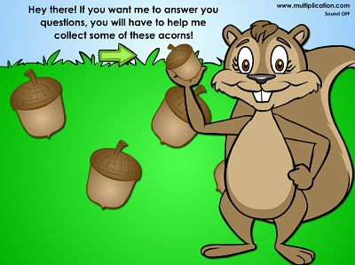 Help Sally Squirrel Pick up her Acorns in Winston Detective Agency | Multiplication.com