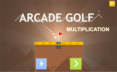Hit start in Arcade Golf Multiplication | Multiplication.com