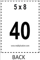 photo regarding Multiplication Flash Cards Printable Front and Back named Free of charge Multiplication Flash Playing cards