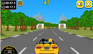 Driving in Car Rush Multiplication | Multiplication.com