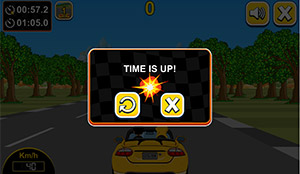 Time is up in Car Rush Multiplication | Multiplication.com