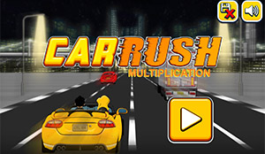 Select a Level in Car Rush Multiplication | Multiplication.com