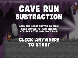 Welcome to Cave Run Subtraction | Multiplication.com