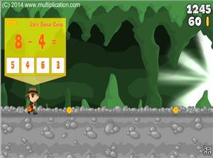 Solve Subtraction Problems in Cave Run Subtraction | Multiplication.com