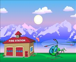 Get Ready to Fly in Chopper Challenge Forest Fire Addition | Multiplication.com