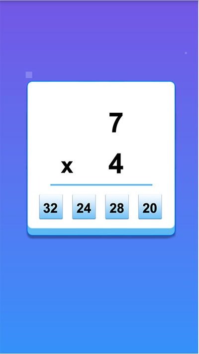 Answer math equations in Cube Dash Addition | Multiplication.com