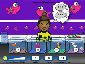 Fish Shop Free Online Multiplication Math Game