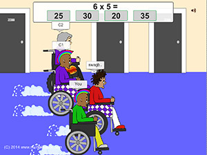 Granny Prix Multi Player Multiplication Free Online Math Game Multiplication Com