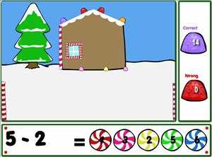 Solve Subtraction Problems in Holiday Fun Subtraction | Multiplication.com