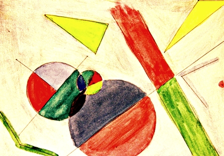 Abstract Geometry Vocabulary Art Project