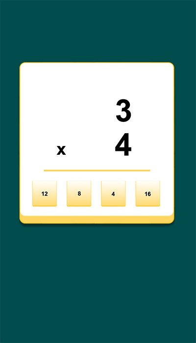 Answer math facts in Slide Addition | Multiplication.com