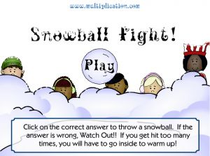 Welcome to Snowball Fight | Multiplication.com