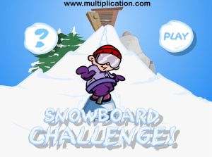 Welcome to Snowboard Challenge Subtraction | Multiplication.com