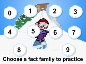Choose a Fact for Snowboard Challenge Subtraction | Multiplication.com