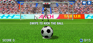 Kick the ball into the goal