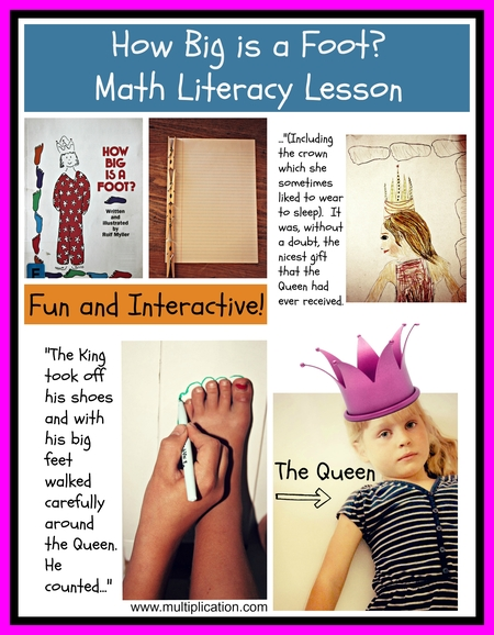 how big is a foot math literacy lesson. Black Bedroom Furniture Sets. Home Design Ideas