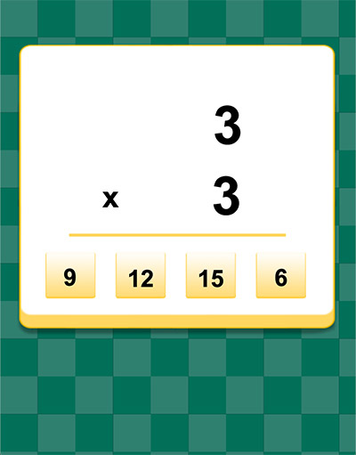 Answer 5 math equations to move forward in Tricky Ball Division | Multiplication.com