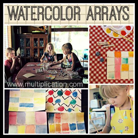 These Multiplication Arrays Are So Cool All You Will Need Watercolor Paper White Or Other Light Colored Crayons A Pair Of Dice And Watercolors