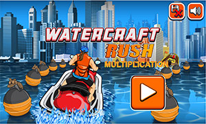 Select a Level in Watercraft Rush Subtraction | Multiplication.com