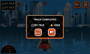 Track complete in Watercraft Rush Subtraction | Multiplication.com