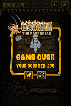 Game over in Wothan the Barbarian Multiplication | Multiplication.com