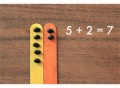 budget manipulatives, bean counting sticks, bean counters, diy math