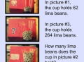 Estimation, how many beans in a jar